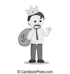 King fat man businessman