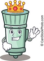 King flashlight cartoon character style
