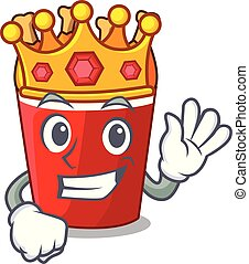 King fried chicken bucket isolated on mascot