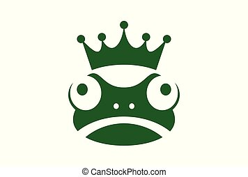 king frog logo icon green