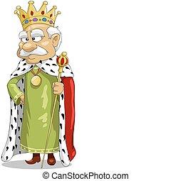 Gloomy king with a staff