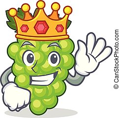 King green grapes mascot cartoon