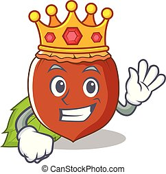 King hazelnut mascot cartoon style