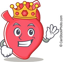 King heart character cartoon style