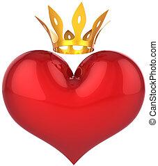 King Heart. Royal Love abstract - Heart of king abstract....