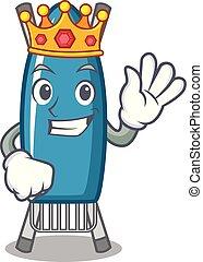 King iron board mascot cartoon