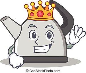 King kettle character cartoon style