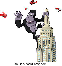 King Kong on a skyscraper vector illustration