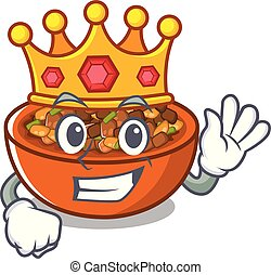 King kung pao chicken in a cartoon
