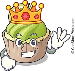 King lemon cupcake mascot cartoon