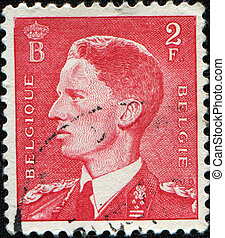 King Leopold III - BELGIUM - CIRCA 1950: stamp printed by ...