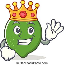 King lime mascot cartoon style