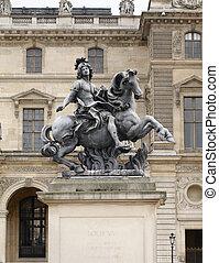 King Louis XIV statue - Equestrian statue of king Louis XIV...