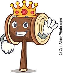King mallet mascot cartoon style
