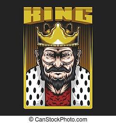 King Man Vector illustration