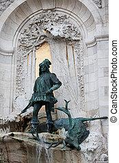 King Matthias Staue in Budapest