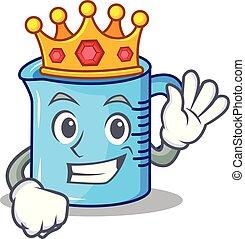 King measuring cup character cartoon
