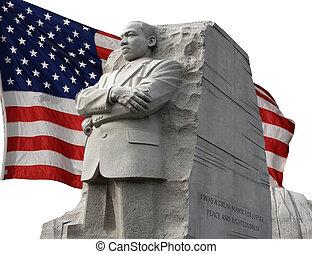 King Memorial 19 - King Memorial with american flag...