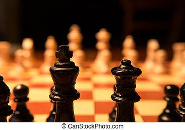 (king), morceaux échecs