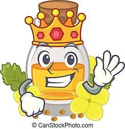 King mustard oil in the cartoon shape