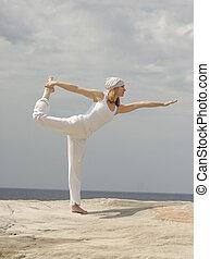 (king, natarajasana, danser, pose)