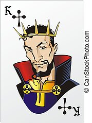 King of clubs. Deck romantic graphics cards - King of Clubs....