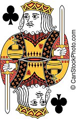 King of clubs no card