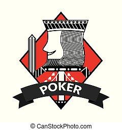 king of diamond card poker ribbon symbol