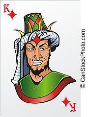 King of diamond. Deck romantic graphics cards
