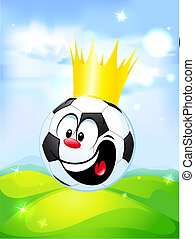 king of football - soccer ball with the royal crown