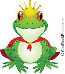 Vector illustration of king of frog