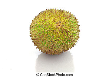 durian on white background