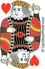 King of hearts no card