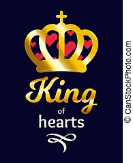 King of Hearts, vector ilustration