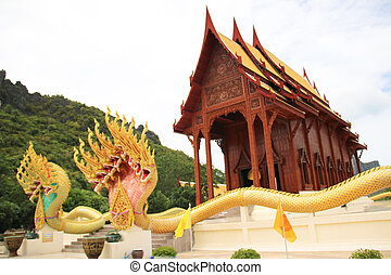 king of Nagas gold in the temple