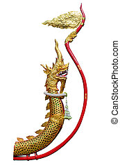 King of Nagas in Thai temple.
