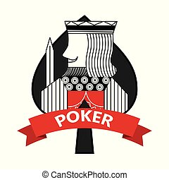 king of spades card poker ribbon symbol