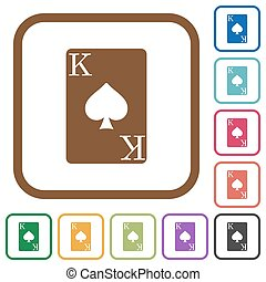 King of spades card simple icons