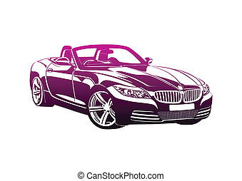 King of sport cars pink