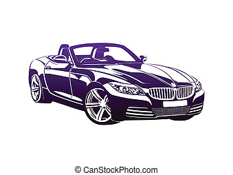 King of sport cars purple