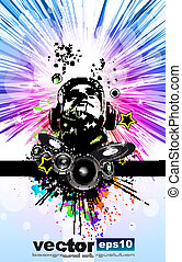 King of the Disco Dj Background for Music Event Flyer