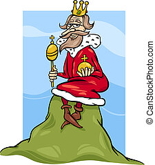 king of the hill saying cartoon - Cartoon Humor Concept...