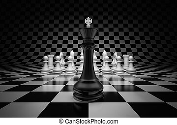 King of the leader - King of leader at the head of chess on...