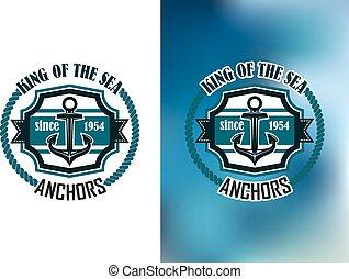 King of the sea anchors emblem