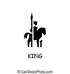 King on Horse flat vector icon