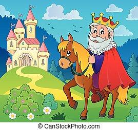 King on horse theme image 5