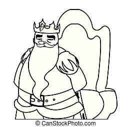 king on throne character