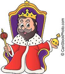 King on throne theme image 1