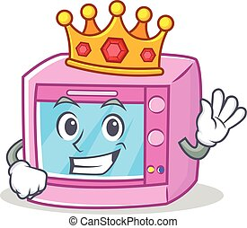 King oven microwave character cartoon
