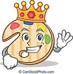 King paint palette character cartoon